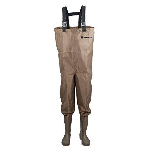 huhe, Schuhe, Angeln, Jagd, Wathose, Herren, Cleated Bootfoot Chest Fishing Waders, braun, Size 8 ()