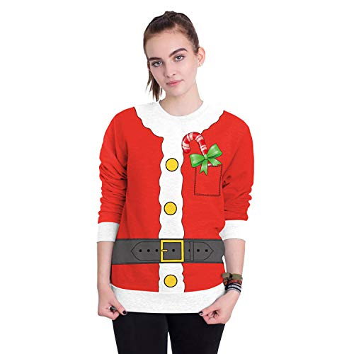 LUCHA Männer Frauen Weihnachten Pullover Sweatshirt Tops 3D Print Langarm T-Shirt