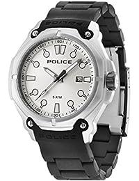 Police PL.93935AEU/04A - Reloj de cuarzo para hombres con esfera blanca y