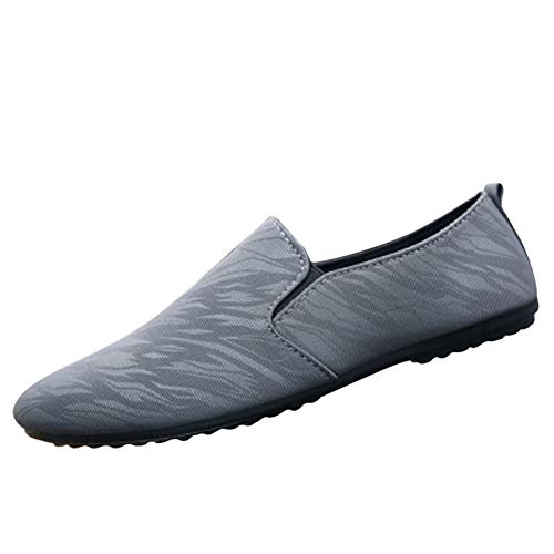 Leobtain Men Casual Shoes Simple Breathable Lightweight Driving Wear-Resistant Male Shoes Daily Use
