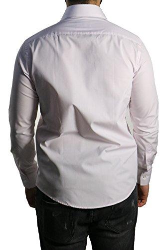 MUGA Homme Chemise à manches longues, cintrée Rose