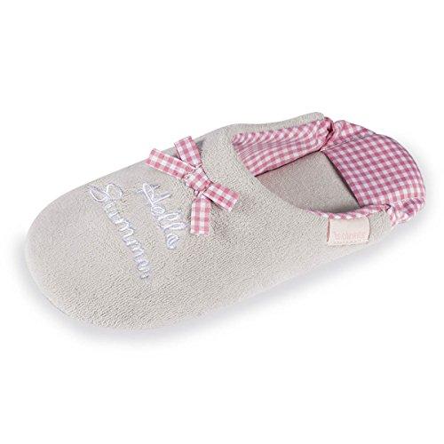 Isotoner, Pantofole donna Grigio chiaro