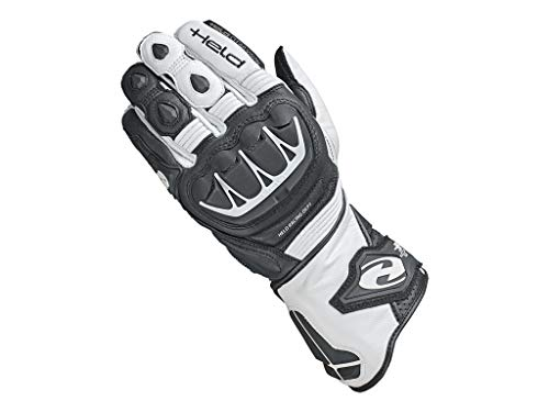 Held Motorradschutzhandschuhe, Motorradhandschuhe lang Evo-Thrux II Sport Handschuh schwarz/weiß 9, Herren, Sportler, Ganzjährig, Leder