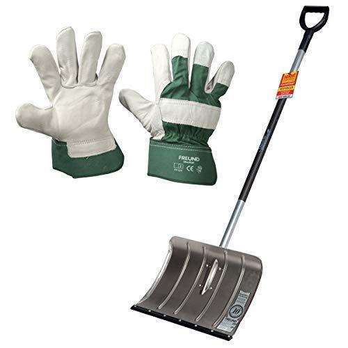 Freund-Victoria - Alu-Schneeschieber mit Flüsterkante inkl. Handschuhe Worker