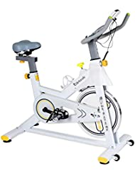 Exercise Bike Pro Indoor Cycling Bike Trainer Stationary Bike Belt Drive Spin Bike with Ipad Mount & Comfortable Seat Cushion for Home Cardio Gym