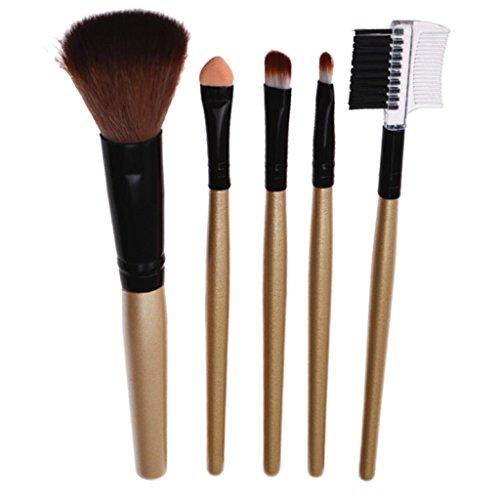 Internet 5 Pcs pinceaux avec manche en bois cosmétiques pinceau de maquillage