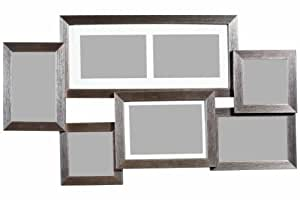 premier housewares mehrfach bilderrahmen f r 7 fotos 61 5 x 35 5 cm silber. Black Bedroom Furniture Sets. Home Design Ideas