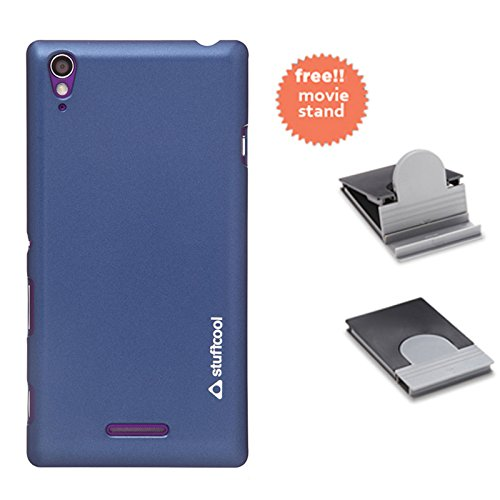 Stuffcool Element Hard Back Case Cover for Sony Xperia T3 - Deep Blue (EMSYT3-DBLU)  available at amazon for Rs.199