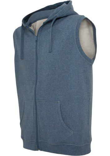 Urban Classics Melange SLeeveless ZipKapuzenpullover Regular Fit Black