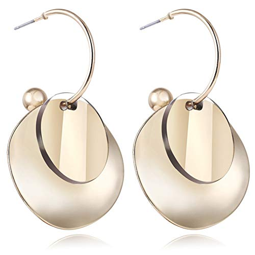 2d146e4cf MYHMG Orecchini Round Geometric Acrylic Resin Drop Earrings For Women  Vintage Gold Color Dangle Earring Female
