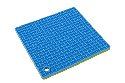 MIU France Silicone Pot Holder or Trivet, Blue and Green