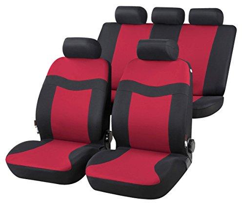 RMG R02IT086 coprisedili compatibili per GRANDE PUNTO fodere auto R02 rossi grigi per sedili con airbag braciolo e sedili sdoppiabili
