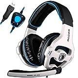 [New Updated PC Gaming Headphones]SADES SA903 USB 7.1 Stereo Surround Computer Gaming Headset