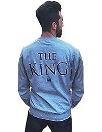 YouPue KING & QUEEN Carta Impresión de Sudaderas algodon Ocasional de Pareja