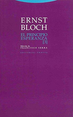 El principio esperanza III: 3 (Estructuras y Procesos. Filosofía) por Ernst Bloch