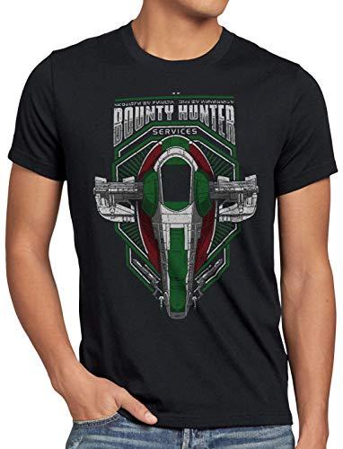 Boba Fett Herren T-Shirt Jango kopfgeldjäger slave-01, Größe:XL ()