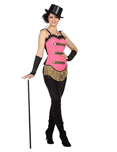 Wilbers Showkostüm Show Zirkus Tanz Korsett Kostüm Damen Rosa Fransen Karneval Fasching Rosa ()