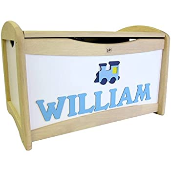Personalised Handmade Wooden Toy Box - Train Design Childrens Toy Boxes Boys Toy Chests  sc 1 st  Amazon UK & Personalised Handmade Wooden Toy Box - Train Design Childrens Toy ... Aboutintivar.Com