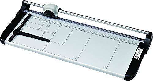 Olympia TR 6712 Profi Papierschneider (DIN A2, 12 Blatt, Schneidelineal, Hochwertiger Stapelschneider für Papier, Karten und Fotos, Metall Papierschneidemaschine fürs Büro)