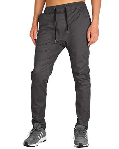 THE AWOKEN Jogging Homme Work Pants Jogger Training Pantalon (Gris Foncé, XL)
