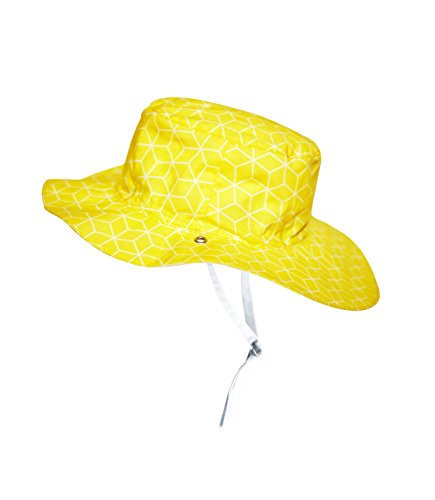 Ki ET LA Gorro Reversible 100% Anti UV Chapeau De Cowboy, Jaune/Cubik Sun, 47-49 cm Bébé garçon