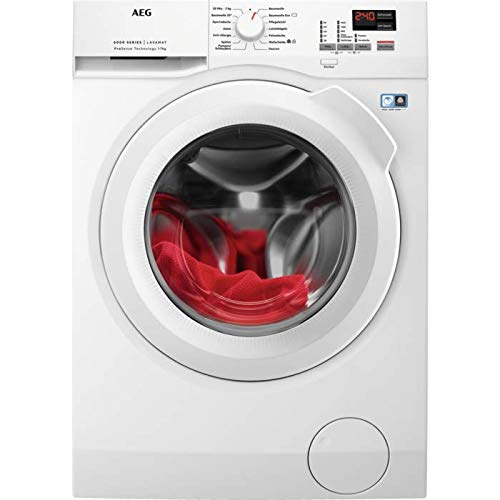 AEG L6FBA674 Waschmaschine Frontlader / 139,0 kWh/Jahr / Weiß / Waschautomat mit Mengenautomatik / Schutz für edle Textilien dank ProTex Schontrommel (7 kg) / leiser und robuster Öko Inverter-Motor