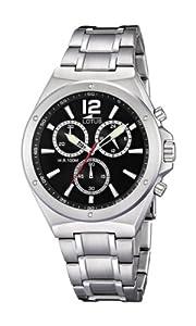 Reloj cronógrafo Lotus 10118/4 de cuarzo para hombre con correa de acero inoxidable, color plateado