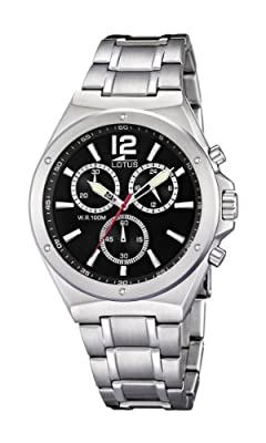 Reloj Lotus 10118/4 de cuarzo para hombre con correa de acero inoxidable, color plateado de Lotus