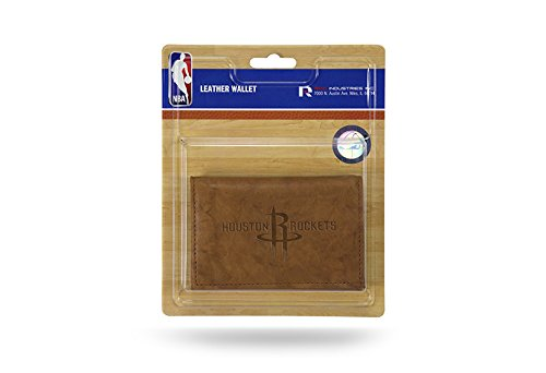 NBA Raketen Houston Leder/Synthetik Trifold Sports Fan Geldbeutel, multicolor, One size (Pro Rakete)