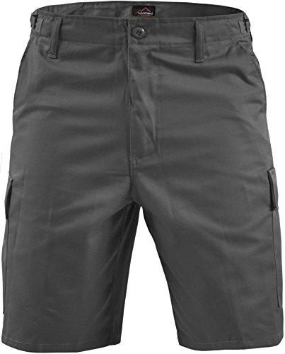 normani Kurze Bermuda Shorts US Army Ranger Feldhose Arbeitshose S - XXXL Farbe Grau Größe M