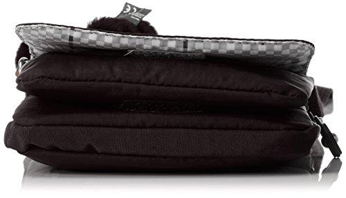 Kipling ELDORADO K13732, Borsa a tracolla donna, 15 x 19 x 2 cm (L x A x P) Nero (Dazz Black)