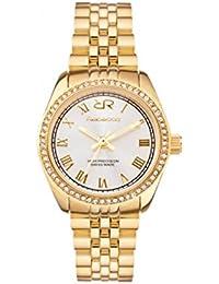 Rebecca GRACEWATCHES AGEOOO13 Reloj de cuarzo acero chapado en oro amarillo Quandrante color blanco