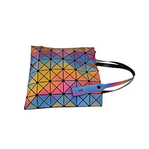 Damen Geometrische Klapphandtasche Einfache Umhängetasche OneColor
