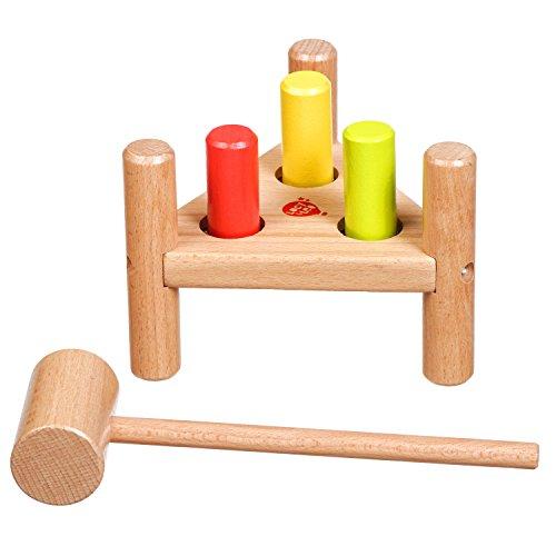 Lucy&Leo Hammerbank Klopf & Hämmerspielzeug Lernspielzeug aus Holz für Kleinkinder für Baby Boy und Baby Girl
