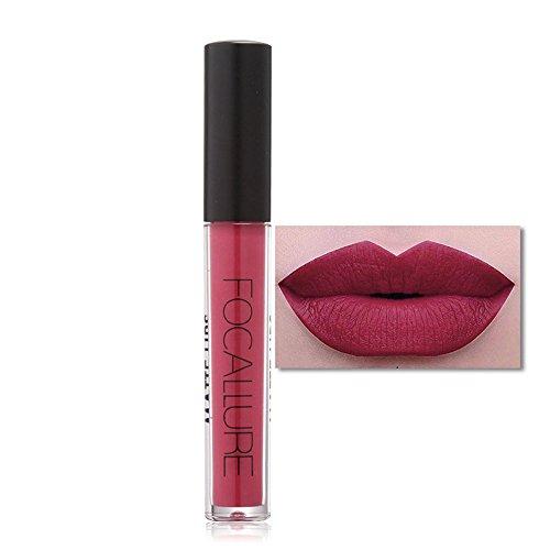weile Liquid Lipstick Matte Lipgloss Lippenstift Nicht Stick Cup Lippenstift Wasserdicht Matte Flüssigkeit Lang anhaltende Lip Gloss (One Size, E) ()