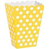 Hot Pink Polka Dot Popcorn Treat Boxes, Pack of 8