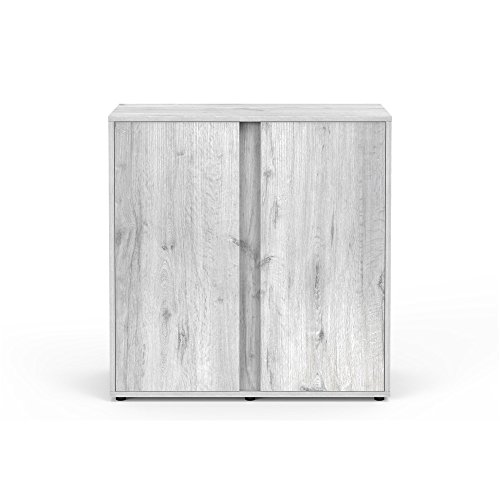 Mueble Acuario Expert 80roble blanco Aquatlantis