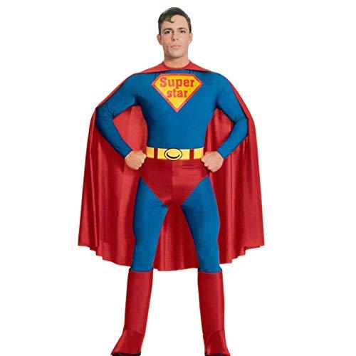tüm Cos Erwachsenen Superman Kostüm Männlichen und Weiblichen Spiderman Batman Amerikanischen Kapitän Muskel Performance Anzug,B ()