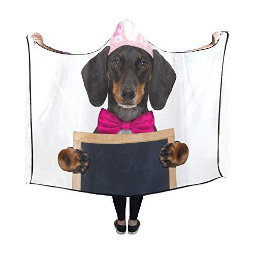 Hase Dackel Kostüm - JOCHUAN Mit Kapuze Decke Dackel Wurst Hund Hase Ostern Ohren Decke 60 x 50 Zoll Comfotable mit Kapuze Throw Wrap