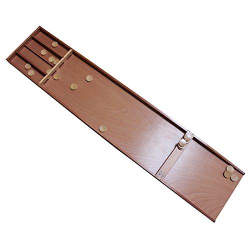 Shuffleboard SJOELBAK Buche 200cm mit Steinen Holland Billard, Familienspiel, - Sjoelbak Shuffleboard