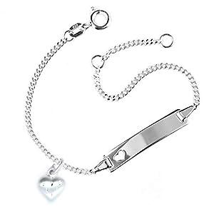 MyOwnName Kinderarmband mit Herzanhänger und gratis Gravur | Herzarmband für Mädchen