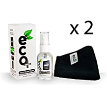 Screen Cleaner KIT X 2 + Extra Fine Microfiber Towel + All Natural + MADE IN UK, GREEN PRODUCT, NO AMMONIA AND ALCOHOL, Cleans All Dusts and stains, Best for Laptop, iPhone, iPad, Computers, Touch screens etc. (2 X 50Ml Screen Cleaner)