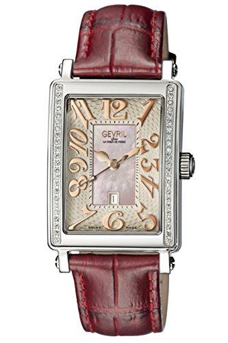 Gevril de la mujer 9248re Avenue Ladies Acero de Tamaño Medio Funda Rosa Dial reloj.