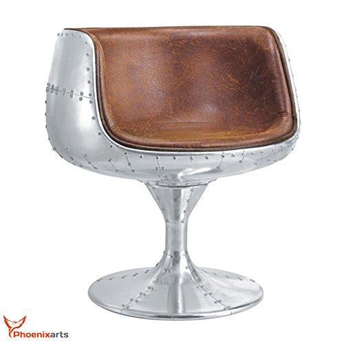 Vintage Echtleder Schalensessel Design Ledersessel Retro Drehsessel Lounge Sessel Braun