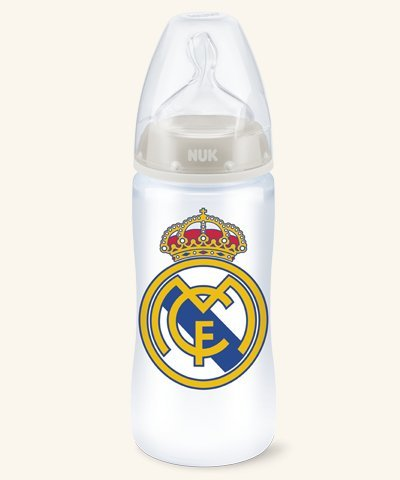 Nuk Biberón Plastico First Choice Real Madrid Tetina Silicona Talla M 6-18m, 300ml
