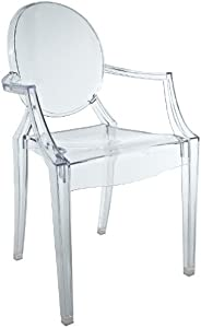 Modway Casper Novelty Chair, Clear