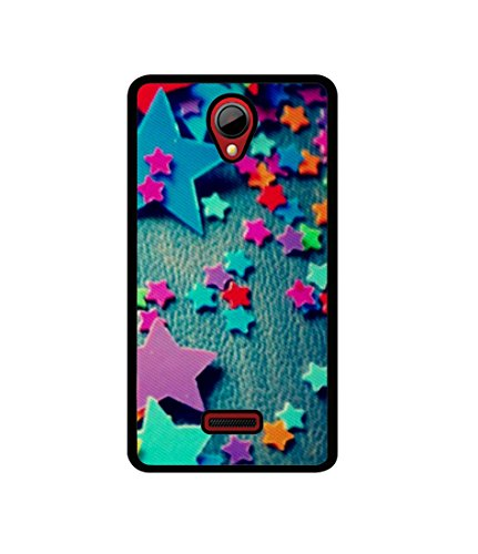 Casotec Colorful Stars Design Canvas Printed Soft TPU Back Case Cover for Micromax Canvas Fun A76  available at amazon for Rs.349