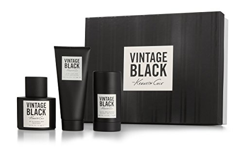 Kenneth Cole Vintage Black 3 Piece Gift Set for Men (Eau de Toilette Spray Plus After Shave Balm Plus Deodorant Stick) by Kenneth Cole -