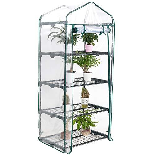 D4P Display4top Jardín Invernaderos 68 × 48 × 158 cm, Cubierta Transparente de PVC, Las Hierbas o...