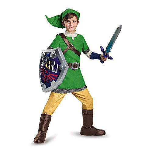 Zelda Kostüm Kind - Disguise Link Deluxe Child Costume, Large